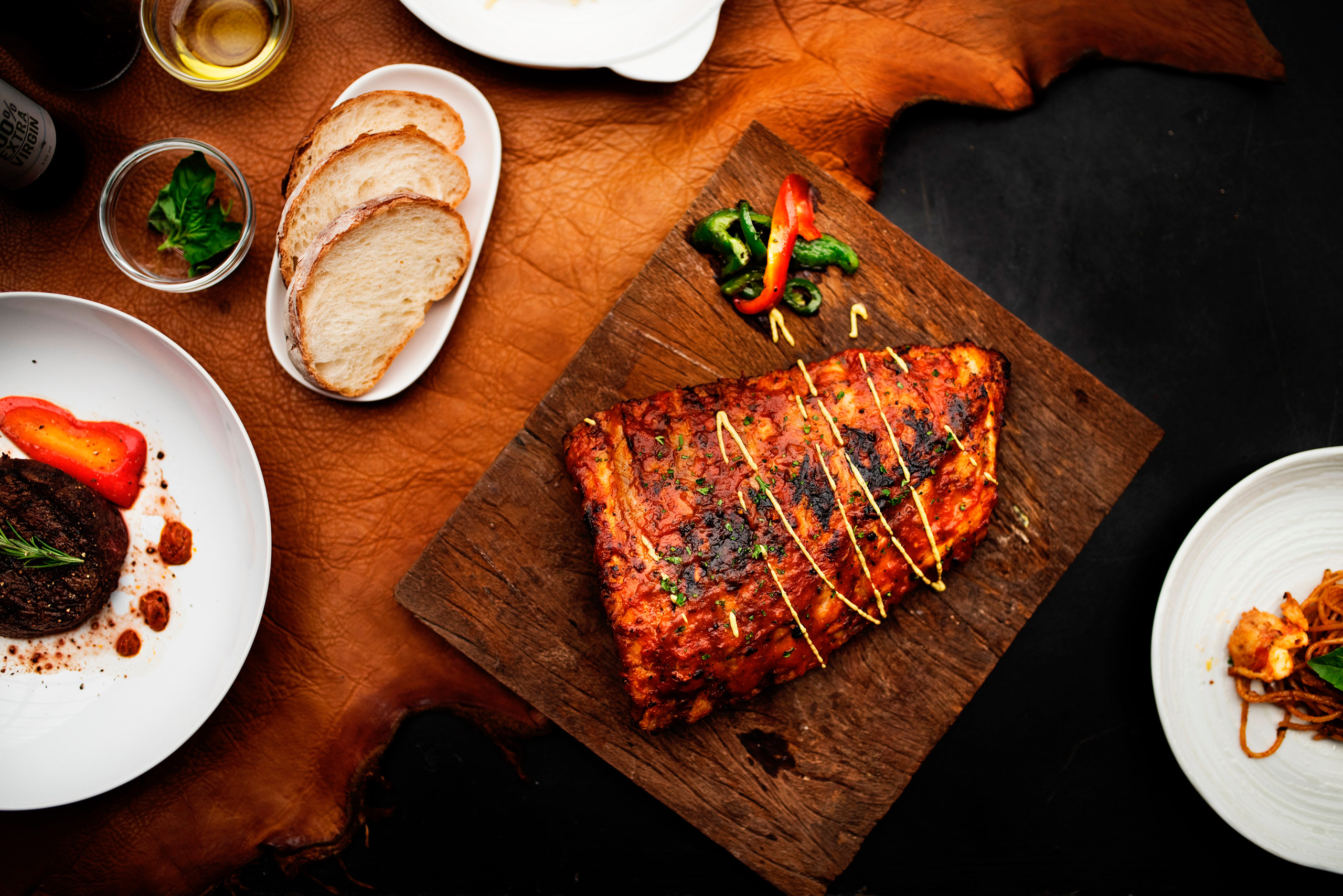 Grilled Salmon with  Lemon-Pepper