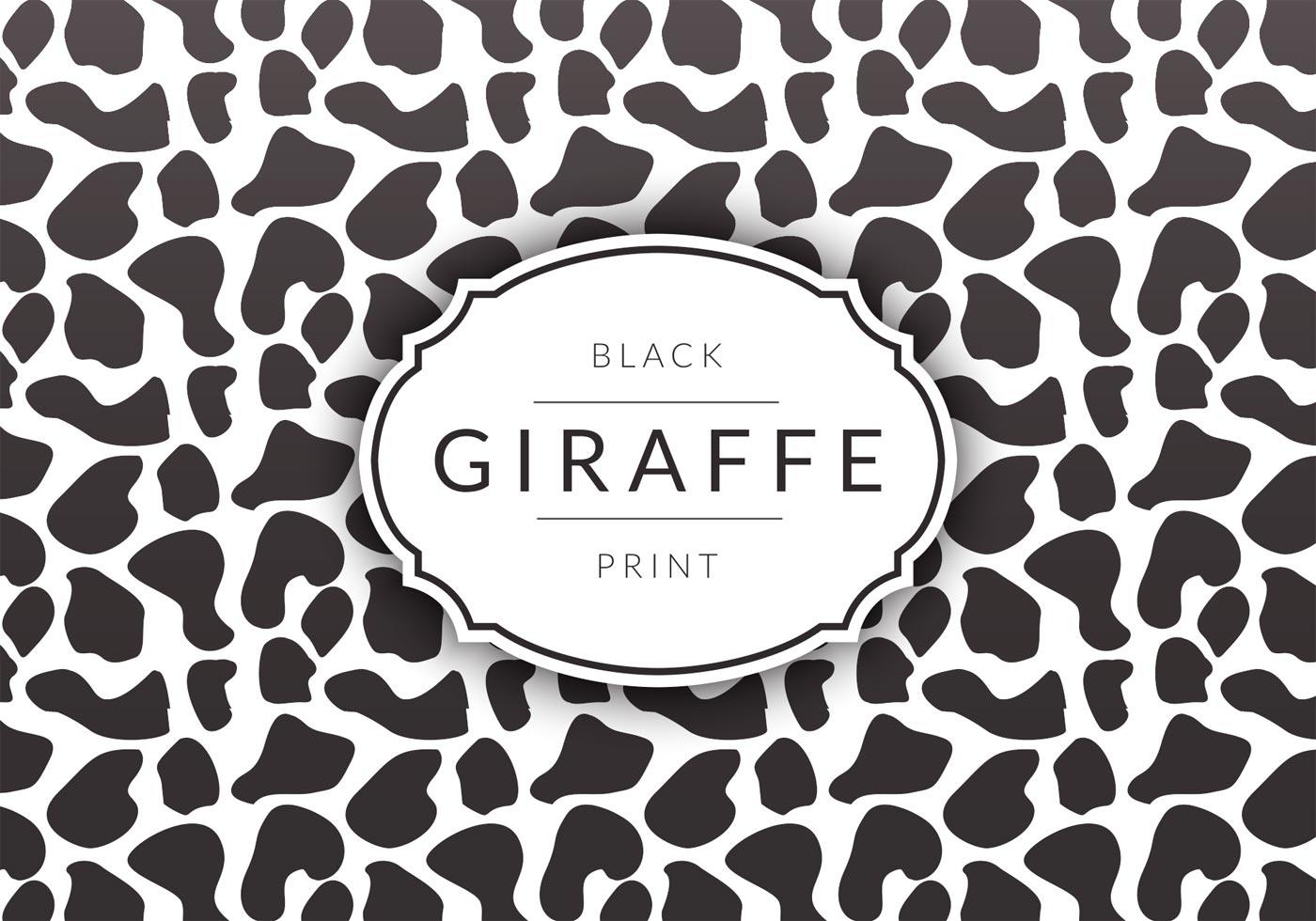 Black Giraffe Background
