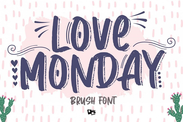 Love Monday Brush Font