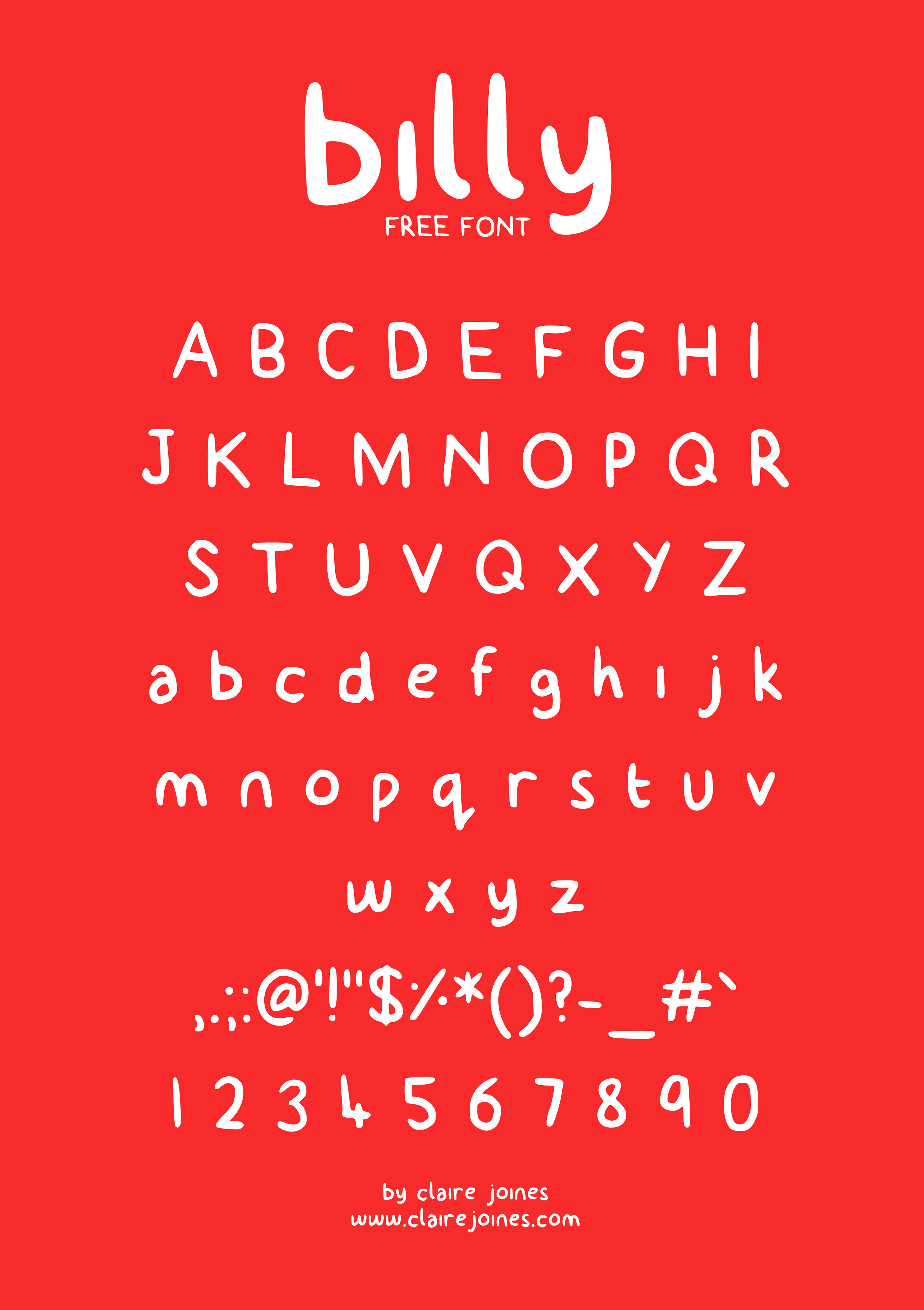 Free Billy Typeface